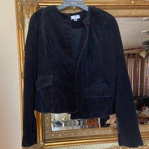 Isaac Mizrahi Black Ribbed Fabric Jacket